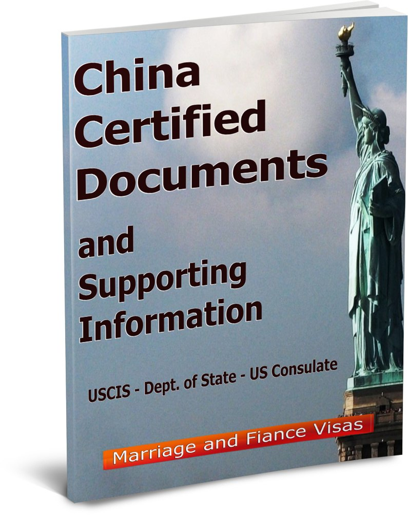 China Certified Documents for Marriage and Fiance Visas
