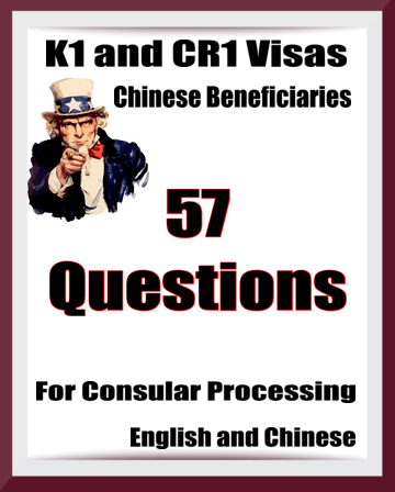 Cheat Sheet For K1 and CR1 Visas